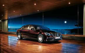 Картинка Mercedes-Benz, седан, Maybach, 2018, S-Class, S650