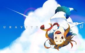 Картинка небо, девушка, My Hero Academia, Boku No Hero Academia, Моя Геройская Академия, Урарака Очако
