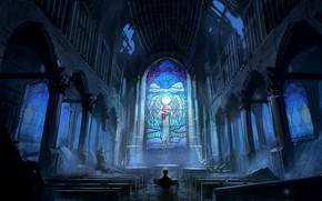 Картинка вода, люди, церковь, драма, Romantically Apocalyptic, Романтика Апокалипсиса