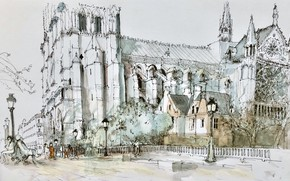 Картинка Paris, Ile-de-France, Quartier de Notre-Dame