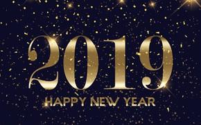 Картинка золото, праздник, Новый год, мишура