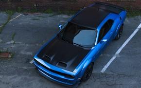 Картинка Dodge, Challenger, вид сверху, Hellcat, SRT, Widebody, 2019, Redeye