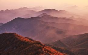 Картинка Горы, Осень, Склоны, Хребты