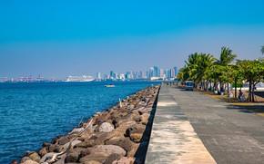 Картинка Manila Bay, Pasay, Mall of Asia, Филиппины, набережная