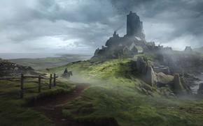 Картинка настольная игра, Solomon Kane, Guillem H. Pongiluppi, game for Mythic Games, England Landscapes