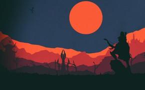 Картинка Минимализм, Силуэт, WOW, Fantasy, Warcraft, Art, World of WarCraft, WarCraft, Сильвана, Concept Art, Elf, Sylvanas …