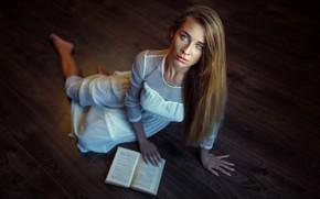 Картинка девушка, платье, книга, Damian Piórko, Mariola