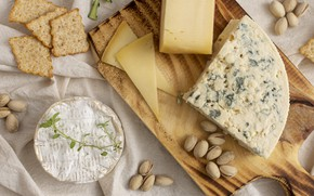 Картинка сыр, орехи, фисташки, дор блю, Cheese, чернослив, сыр с плесенью, Dorblu, благородный сыр