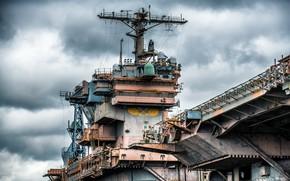 Картинка legend, aircraft carrier, Tower, CV-67, USS John F.Kennedy