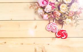 Картинка цветы, конфеты, сердечки