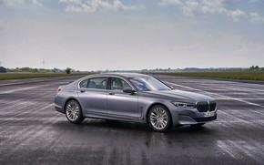 Картинка BMW, седан, мокрый асфальт, четырёхдверный, G12, G11, 2020, 7er, 7-series, 2019, полноразмерный