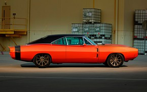 Картинка Muscle, Orange, Coupe, 1970, Dodge Charger