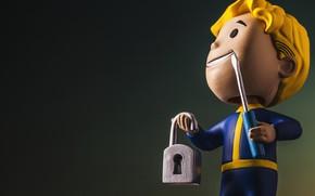 Картинка Fallout, Bethesda Softworks, Bethesda, Фигурка, Bethesda Game Studios, Vault Boy, Волт-Бой, Взлом, Бетезда, Vault-Boy, ВолтиБой, …