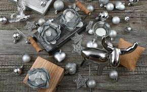 Картинка игрушки, новый год, олень, wood, декор, композиция