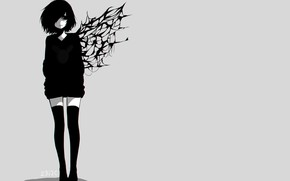 Картинка девушка, фон, Tokyo Ghoul, Токийский гуль