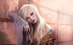 Картинка взгляд, девушка, блондинка