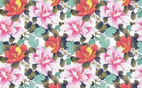 Картинка цветы, фон, design, pattern, floral