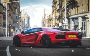 Картинка Lamborghini, Microsoft, tuning, Aventador, game art, Forza Horizon 4, by Draven Redgrave