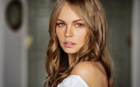 Картинка глаза, взгляд, девушка, блондинка, Анастасия Щеглова, Mark Prinz
