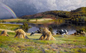 Картинка датский живописец, 1924, Петер Мёрк Мёнстед, Peder Mørk Mønsted, Danish realist painter, oil on canvas, …