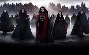 Картинка зима, лес, вампиры, плащи, Сумерки Сага Рассвет, The Twilight Saga Breaking Dawn - Part 2