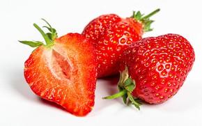 Картинка ягоды, клубника, белый фон