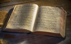 Обои ноты, книга, latin liturgian hymns