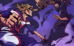Картинка My Hero Academia, Toshinori Yagi, All Might, Boku No Hero Academia, Моя Геройская Академия, All …