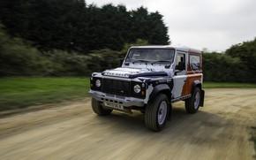 Картинка скорость, Land Rover, Defender, 2013, 2014, Challenge, Bowler