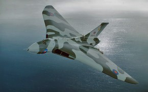 Картинка art, airplane, aviation, jet, Avro Vulcan