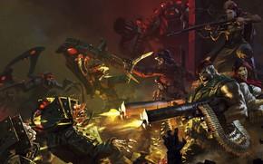 Картинка бой, стрельба, битва, пулемёты, мясорубка, Bayard Wu