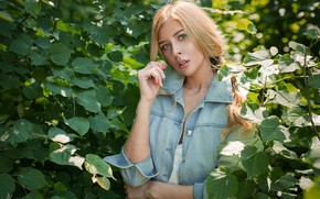 Картинка взгляд, Девушка, блондинка, Andrey Vechkenzin, Irina Karpova