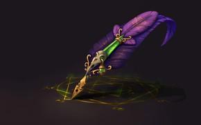 Картинка перо, магия, фэнтези, арт, пентаграмма, Alchemist's Feather, Nadin K