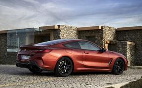 Картинка камни, купе, брусчатка, BMW, Coupe, 2018, 8-Series, тёмно-оранжевый, M850i xDrive, 8er, G15