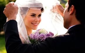 Картинка девушка, парень, свадьба
