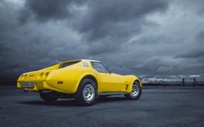 Картинка Авто, Corvette, Chevrolet, Машина, Chevrolet Corvette, Chevrolet Corvette C3, Transport & Vehicles, by Rodion Yushmanov, ...