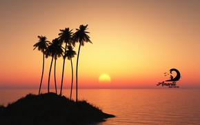 Картинка logo, Sunset, paisagem, Amante