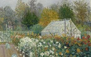 Картинка пейзаж, картина, 1902, Maxime Maufra, Максим Мофра, Осенние Цветы