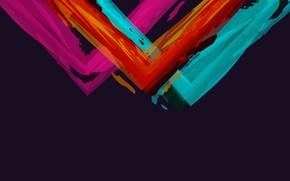 Картинка узор, краски, минимализм, угол