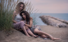 Картинка море, девушки, берег