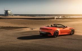 Картинка Aston Martin, побережье, DBS, Superleggera, кабриолет, Volante, 2019, 5.2 л., V12 Twin-Turbo, 715 л.с.