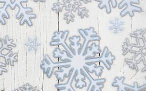 Картинка снежинки, текстура, wood