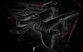 Картинка Ниндзя, Черепашки-ниндзя, TMNT, Teenage Mutant Ninja Turtles, Casey Jones, Кейси Джонс, Черепашки, Concept Art, Клюшка, …