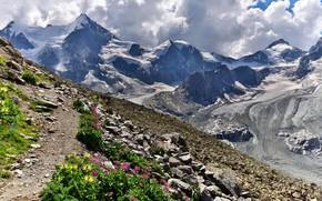 Картинка горы, Швейцария, Альпы, Cabane Grand Mountet