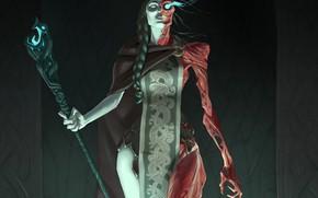 Картинка арт, Fantasy, art, Хель, темное фэнтези