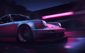 Картинка Авто, Игра, Porsche, Машина, NFS, Need for Speed, Mikhail Sharov, Porsche 911 Carrera RSR, Transport …