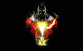 Картинка молнии, герой, hero, DC Comics, Shazam, Billy Batson, Билли Бэтсон, шазам