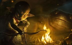 Картинка fantasy, Art, hunter, goblin