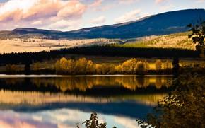Картинка осень, природа, озеро