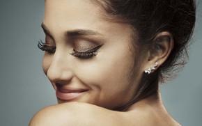Картинка девушка, лицо, улыбка, макияж, Ariana Grande